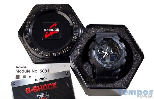 Casio G-Shock GA-100-1A1ER в корбке