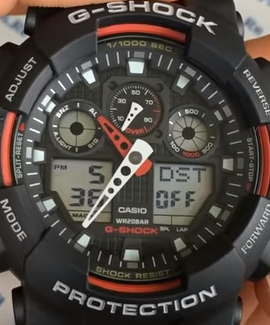 GA-100 G-Shock DST DAYLIGHT SAVING TIME